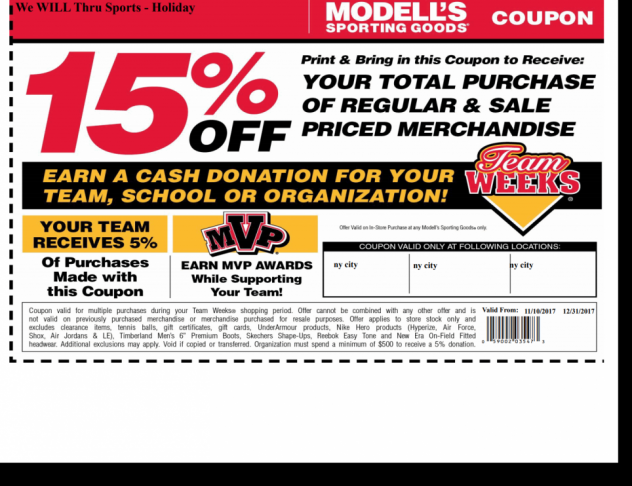Modell's Holiday Shopping Promotion 2017